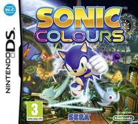 Portada oficial de Sonic Colours para NDS