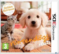 Portada oficial de Nintendogs + Cats para Nintendo 3DS