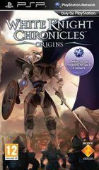 Portada oficial de White Knight Chronicles: Origins para PSP