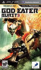 Portada oficial de Gods Eater Burst para PSP