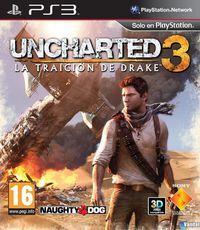 Portada oficial de Uncharted 3: La traición de Drake para PS3