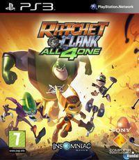 Portada oficial de Ratchet and Clank: Todos para uno para PS3