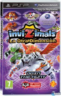 Portada oficial de Invizimals Shadow Zone para PSP