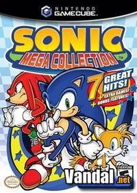 Portada oficial de Sonic MegaCollection para GameCube