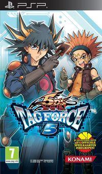 Portada oficial de Yu-Gi-Oh! GX Tag Force 5 para PSP