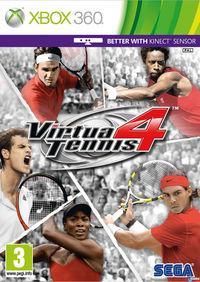 Portada oficial de Virtua Tennis 4 para Xbox 360