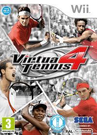 Portada oficial de Virtua Tennis 4 para Wii