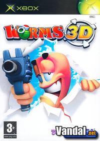 Portada oficial de Worms 3D para Xbox
