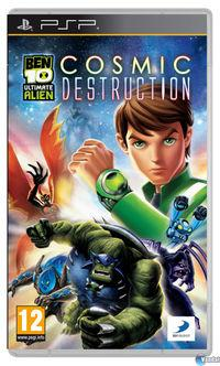 Portada oficial de Ben 10 Ultimate Alien Cosmic Destruction para PSP