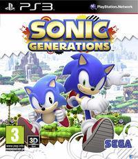 Portada oficial de Sonic Generations para PS3