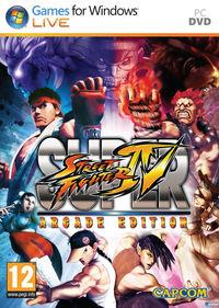 Portada oficial de Super Street Fighter IV: Arcade Edition para PC