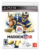 Portada oficial de Madden NFL 12 para PS3