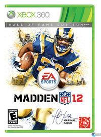 Portada oficial de Madden NFL 12 para Xbox 360