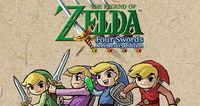 Portada oficial de The Legend of Zelda: Four Swords Anniversary Edition DSiW para NDS