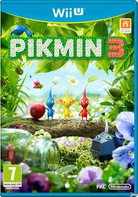 Portada oficial de Pikmin 3 para Wii U