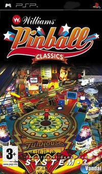 Portada oficial de Williams Pinball Classics para PSP