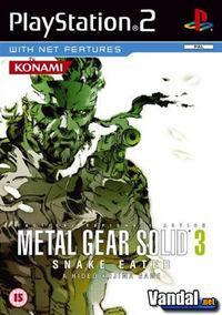 Portada oficial de Metal Gear Solid 3: Snake Eater para PS2