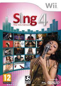 Portada oficial de Sing 4 – The Hits Edition para Wii