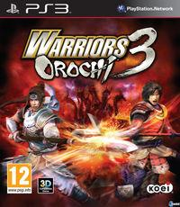 Portada oficial de Warriors Orochi 3 para PS3