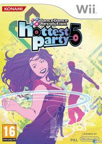 Portada oficial de Dance Dance Revolution Hottest Party 5 para Wii