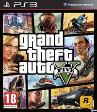 Portada oficial de Grand Theft Auto V para PS3