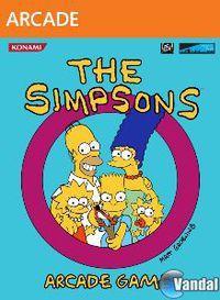 Portada oficial de The Simpsons Arcade XBLA para Xbox 360