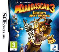 Portada oficial de Madagascar 3: El videojuego para NDS