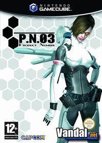 Portada oficial de P.N.03 para GameCube