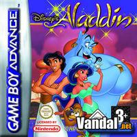 Portada oficial de Disney's Aladdin para Game Boy Advance