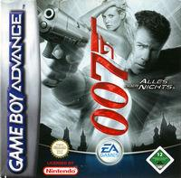 Portada oficial de James Bond 007: Everything or Nothing para Game Boy Advance