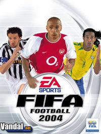 Portada oficial de FIFA Football 2004 para PS2