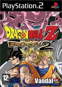 Portada oficial de Dragon Ball Z: Budokai 2 para PS2