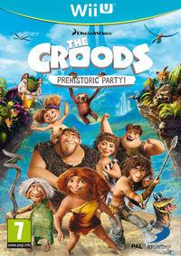 Portada oficial de Los Croods: Fiesta Prehistórica para Wii U