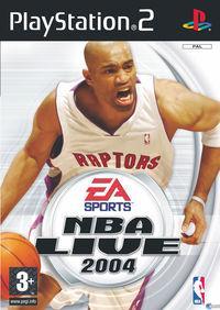 Portada oficial de NBA Live 2004 para PS2