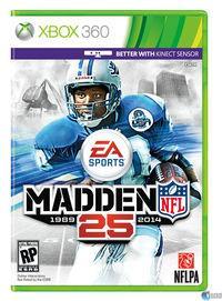Portada oficial de Madden NFL 25 para Xbox 360