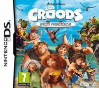 Portada oficial de Los Croods: Fiesta Prehistórica para NDS