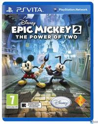 Portada oficial de Epic Mickey 2: El retorno de dos héroes para PSVITA
