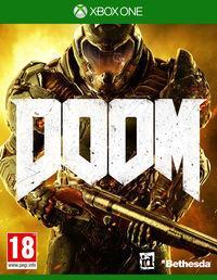 Portada oficial de DOOM para Xbox One