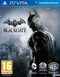 Portada oficial de Batman: Arkham Origins Blackgate para PSVITA
