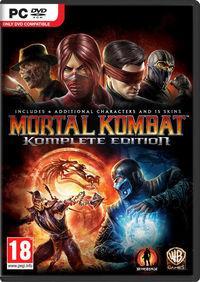 Portada oficial de Mortal Kombat Komplete Edition para PC