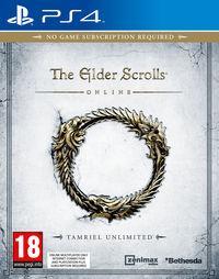 Portada oficial de The Elder Scrolls Online: Tamriel Unlimited para PS4