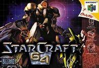 Portada oficial de Starcraft 64 para Nintendo 64