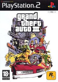 Portada oficial de Grand Theft Auto 3 para PS2