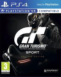 Portada oficial de Gran Turismo Sport para PS4