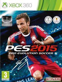 Portada oficial de Pro Evolution Soccer 2015 para Xbox 360