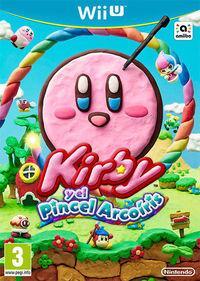 Portada oficial de Kirby y el Pincel Arcoíris para Wii U
