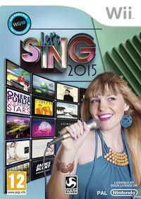 Portada oficial de Let's Sing 2015 para Wii