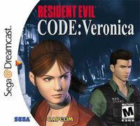 Portada oficial de Resident Evil Code: Veronica para Dreamcast