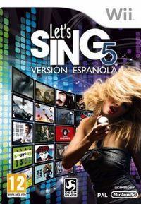 Portada oficial de Let's Sing 5: Versión Española para Wii