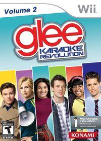 Portada oficial de Glee Karaoke Revolution Volumen 2 para Wii